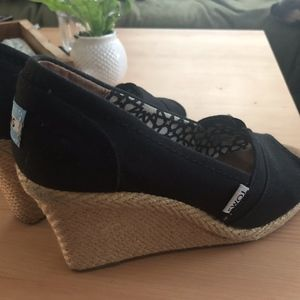 Black Toms Wedge